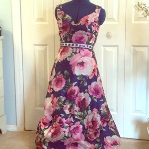Gorgeous Blue Floral Prom Dress BIG SALE